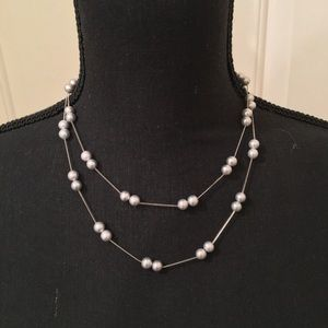 NWOT AUTHENTIC RADIANCE PEARL GREY PEARL NECKLACE